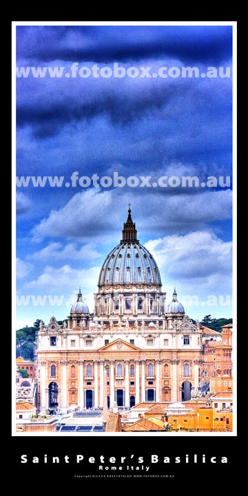 St Peters Basilica Rome Italy Landscape Panoramic