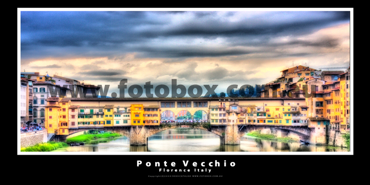 Ponte Vecchio Florence Italy Landscape Panoramic