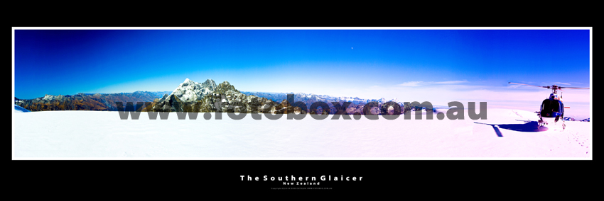 The Southern Glaicer New Zealand Landscape Panoramin photography